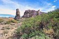 Mountain landscape of teide national park tenerife canary islands Stock Photography