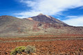 Mountain landscape of teide national park tenerife canary islands Royalty Free Stock Image