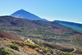 Mountain landscape of teide national park tenerife canary islands Royalty Free Stock Images