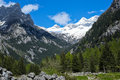 Mountain landscape from val di mello val masino italy Stock Image