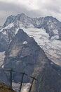 Mountain lift dombai russian caucasus Stock Image