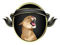Mountain Lion Crest Royalty Free Stock Photo