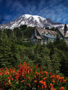 Mountain Lodge Stock Photography