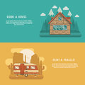 Mountain Lodge and Rv Trailer Banners