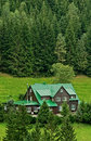 Mountain lodge in summer Royalty Free Stock Photo