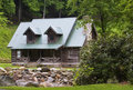 Mountain Log Cabin Royalty Free Stock Photo