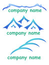 Mountain logo company abstract blue set for vompany Stock Images