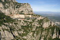 Mountain montserrat montserrat monastery catalonia spain Royalty Free Stock Photo