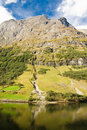 Mountain of norwegian fjord in Norway Royalty Free Stock Image