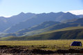 Mountain nyainqentanglha range is in tibet china Royalty Free Stock Photo