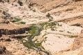 Mountain oasis Tamerza in Tunisia near the border with Algeria. Royalty Free Stock Photo