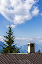 Mountain panorama italy in in summer Royalty Free Stock Photography