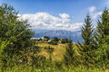 Mountain panorama italy in summer Royalty Free Stock Photo