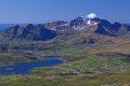 Mountain panorama on Lofoten Stock Photo