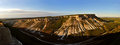 Mountain panorama near bakhchisaray crimea ukraine view side chufut cale ancient cave city panorama consists frames Stock Photography