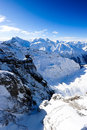 Mountain panorama from Titlis Royalty Free Stock Image