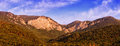 Mountain panorama in warm light Stock Photography