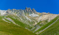 Mountain panorma panorama picture with summits taken in st moritz switzerland Royalty Free Stock Photo