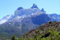 Mountain peak covered in snow in patagonia south america Royalty Free Stock Photos