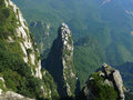 Mountain peak lushan jiangxi province china Stock Photography