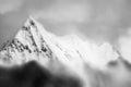 Mountain peak in monotone abstract Stock Image