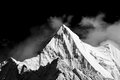 Mountain peak in monotone yading national level reserve daocheng sichuan province china Stock Photo