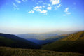 Mountain peaks, skyline landscape Royalty Free Stock Photo