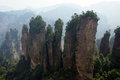 Mountain peaks the world natural heritage national geological park zhangjiajie in china Stock Photos
