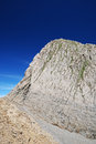 Mountain pic des sarradets in summer limestone is photographed the pyrenees national park Stock Photos