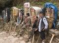 Mountain Porters Royalty Free Stock Photo