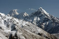 Mountain range covered in snow kyrgyzstan Royalty Free Stock Photo