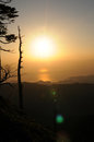 Mountain range it is the morning sun from the summit of the Royalty Free Stock Images