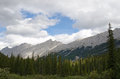 Mountain range near Medicine Lake Royalty Free Stock Photo