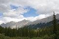Mountain range near Medicine Lake Royalty Free Stock Photo