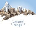 Mountain range in origami style Stock Image