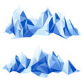 Mountain range in origami style Royalty Free Stock Photos