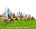 Mountain range over white background Stock Photography