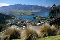Mountain range The Remarkables from Bobs Peak Royalty Free Stock Photo