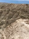 Multi-colored and layered mountains of Badlands Royalty Free Stock Photo