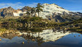 Mountain reflecting by the lake Royalty Free Stock Photography