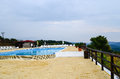 Mountain resort in a rainy day pool rodophy bulgaria Stock Photography