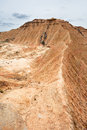 Mountain ridge in Bardenas Reales, Navarra, Spain Royalty Free Stock Photos