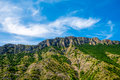 Mountain ridge near matka canyon in macedonia beautiful Royalty Free Stock Images