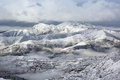 Mountain ridge snow landscape layer neighbourhood of huanglong china Royalty Free Stock Photos