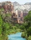 Mountain river Royaltyfri Fotografi