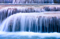 Mountain river background with small waterfalls Royalty Free Stock Photo