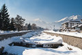 Mountain river in Bansko Stock Images