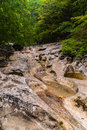 The mountain river in the crimea grand canyon of ukraine Royalty Free Stock Photography