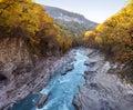 Mountain river fall Royalty Free Stock Photo