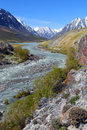Mountain river landscape in Altay Royalty Free Stock Photo
